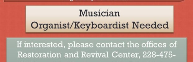 Musician – Organist/Keyboardist Needed